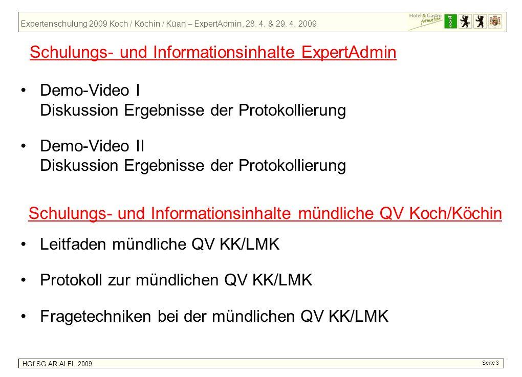 Schulungs- und Informationsinhalte ExpertAdmin