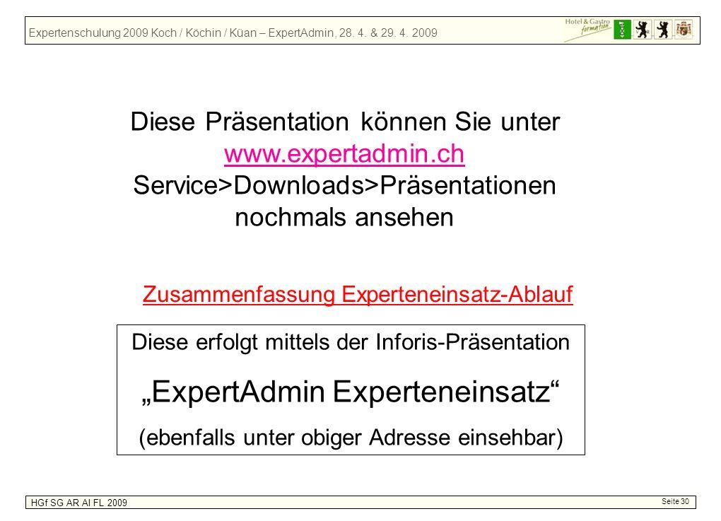 """""""ExpertAdmin Experteneinsatz"""