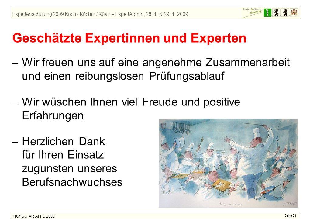 Geschätzte Expertinnen und Experten