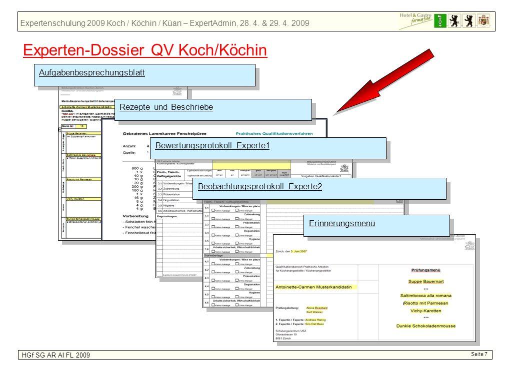 Experten-Dossier QV Koch/Köchin