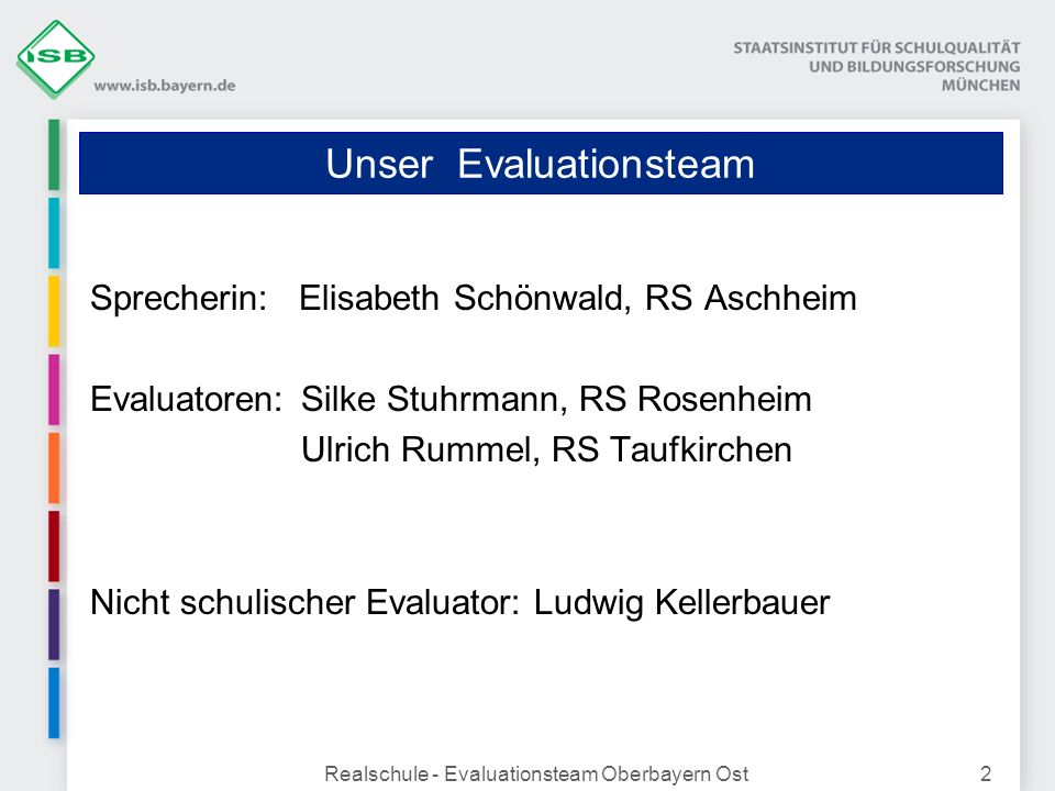 Unser Evaluationsteam