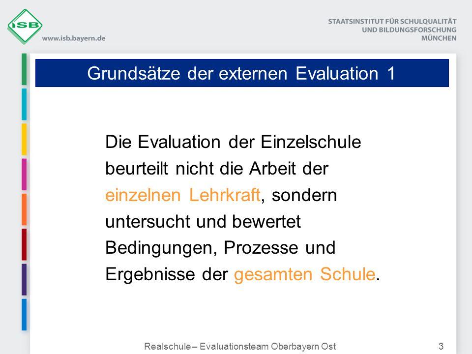 Grundsätze der externen Evaluation 1