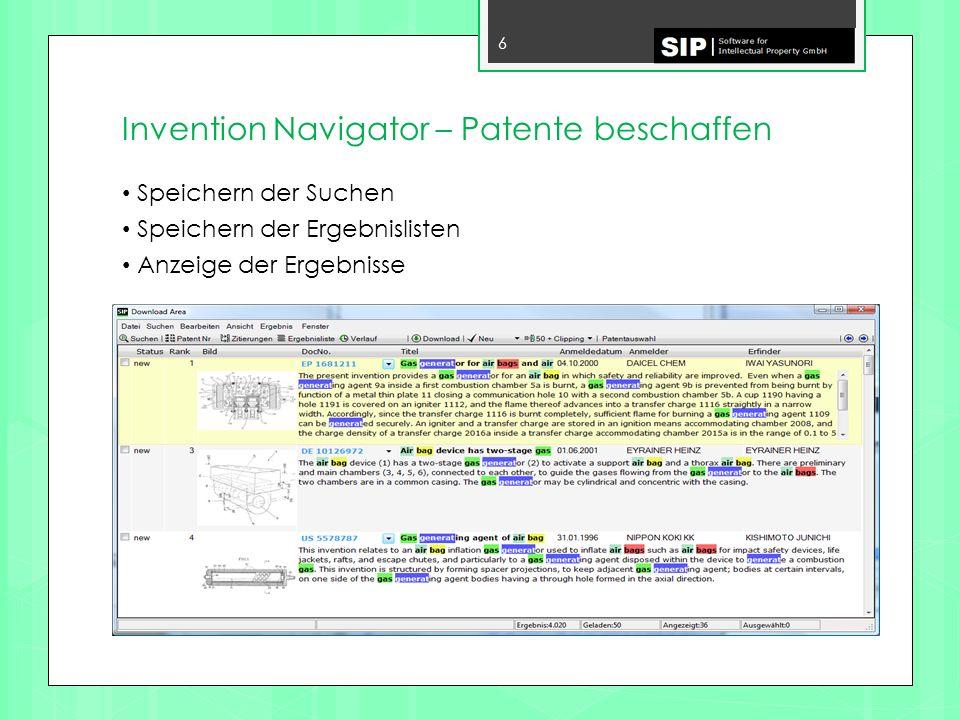 Invention Navigator – Patente beschaffen