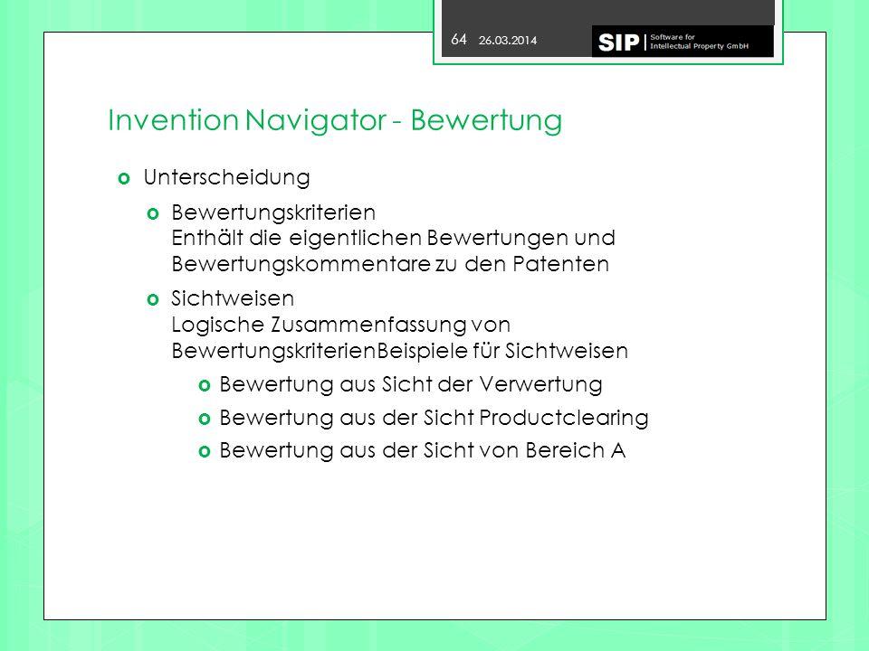 Invention Navigator - Bewertung