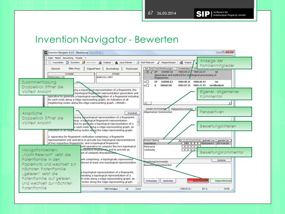 Invention Navigator - Bewerten