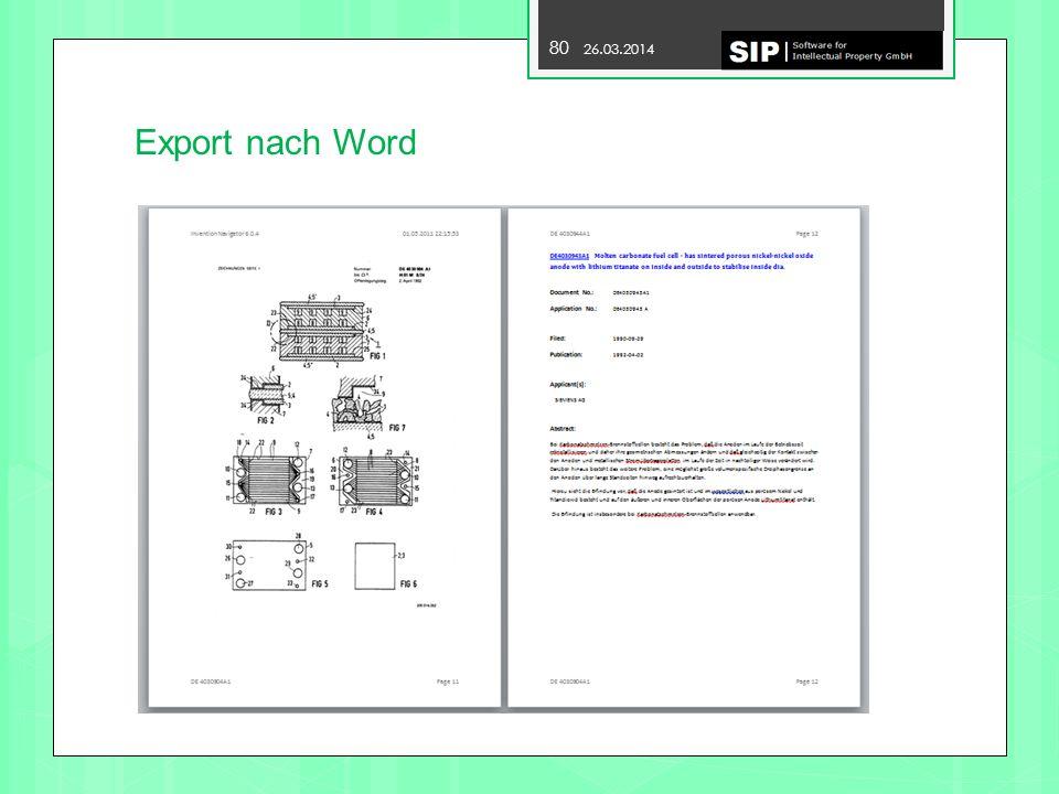 80 28.03.2017 Export nach Word