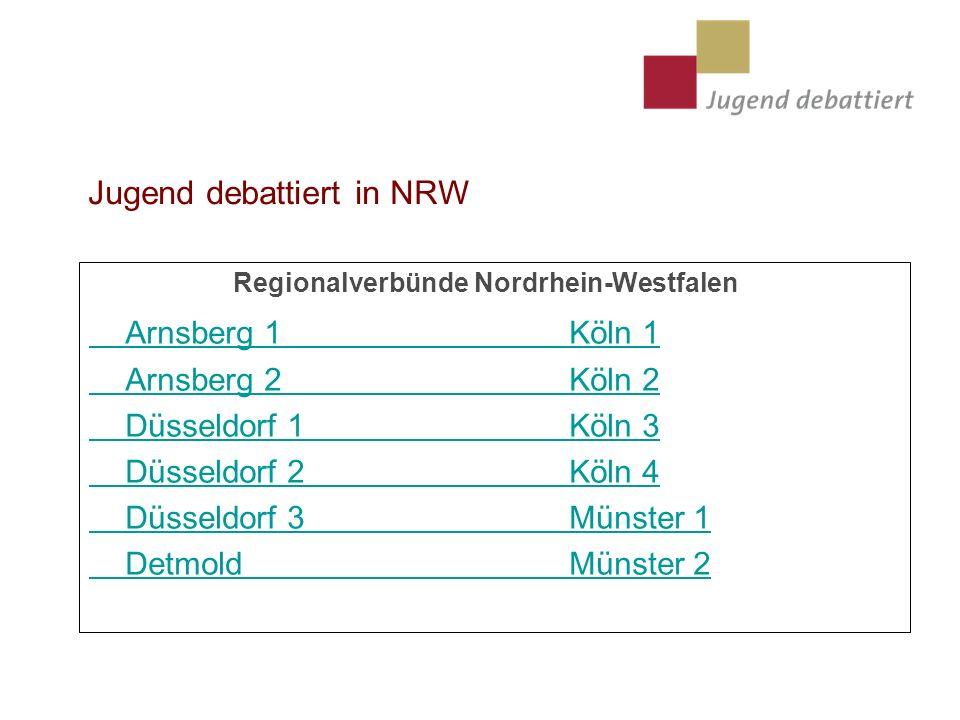 Jugend debattiert in NRW
