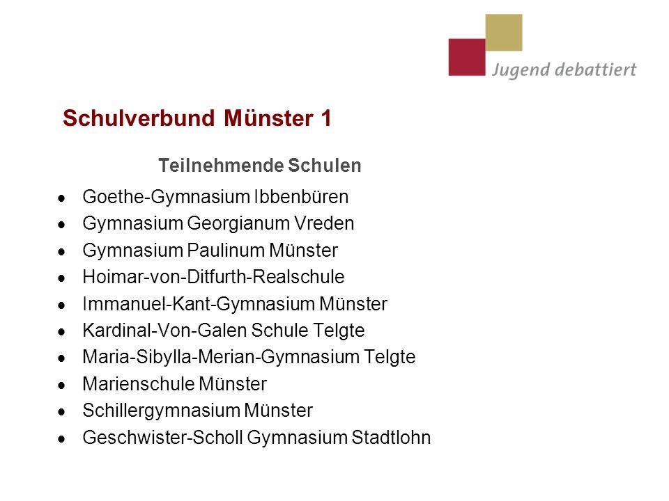 Schulverbund Münster 1 Teilnehmende Schulen