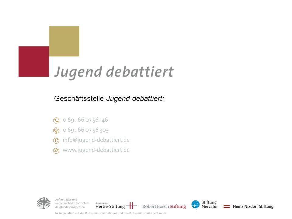 Geschäftsstelle Jugend debattiert: