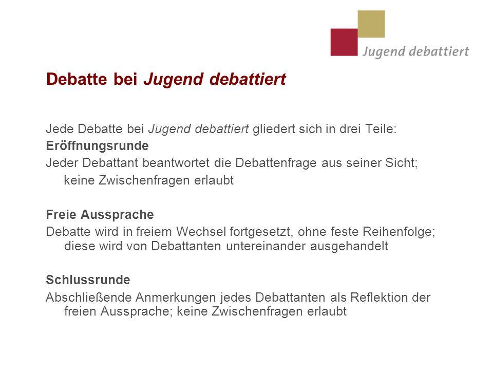 Debatte bei Jugend debattiert