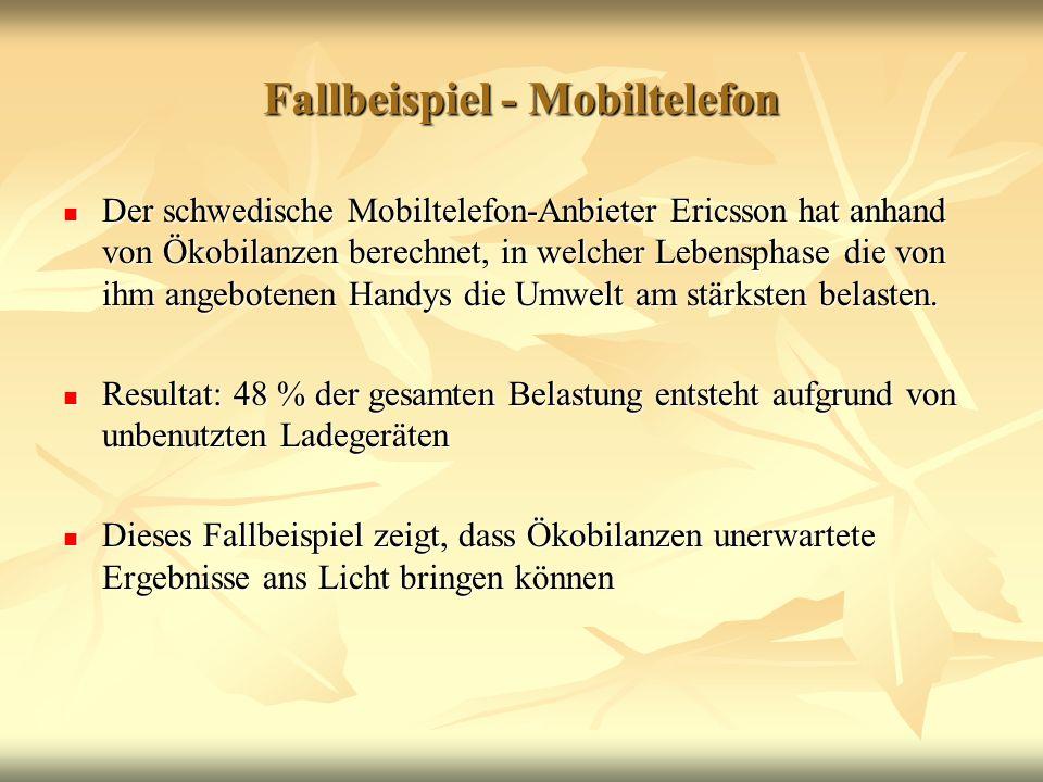 Fallbeispiel - Mobiltelefon