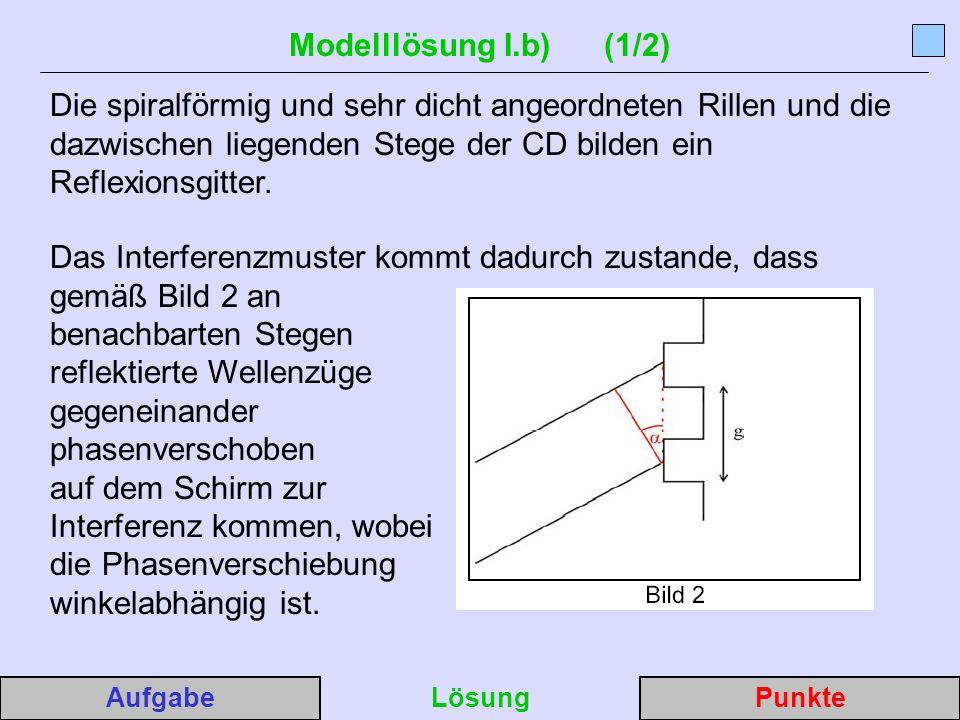Modelllösung I.b) (1/2)