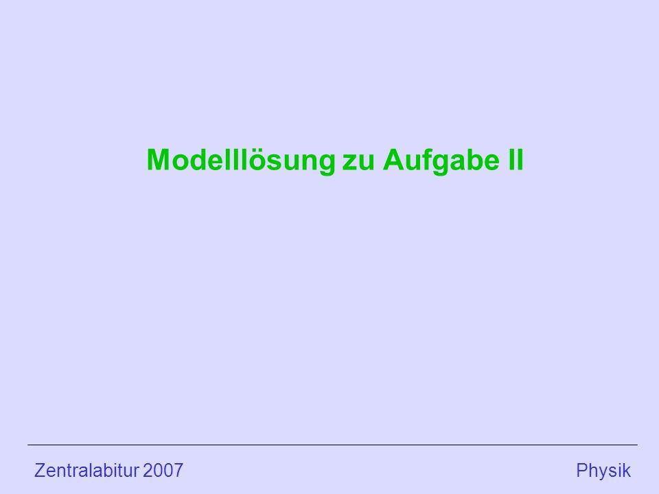 Modelllösung zu Aufgabe II
