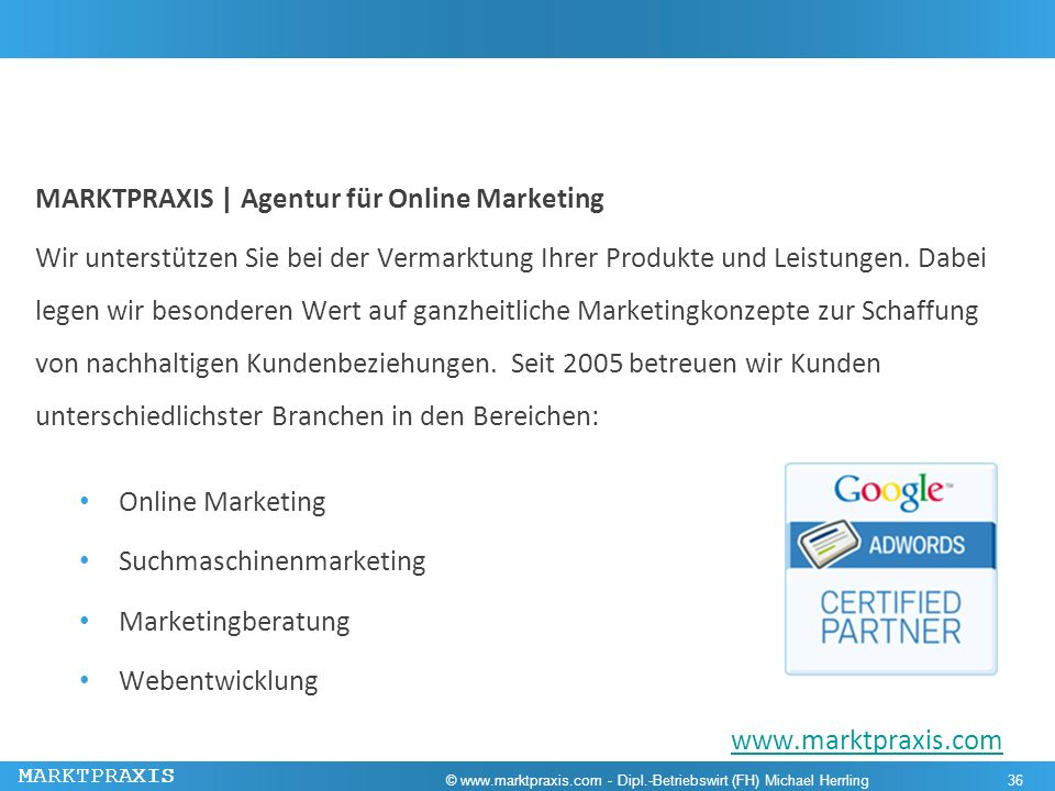 MARKTPRAXIS | Agentur für Online Marketing