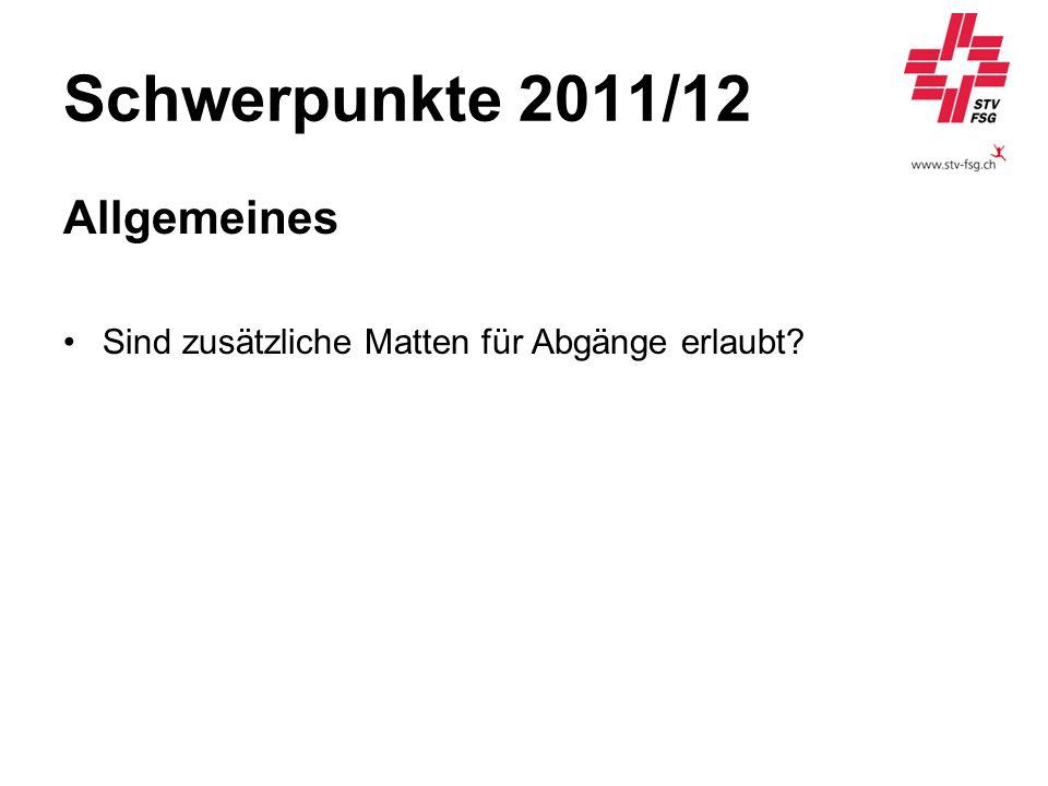 Schwerpunkte 2011/12 Allgemeines