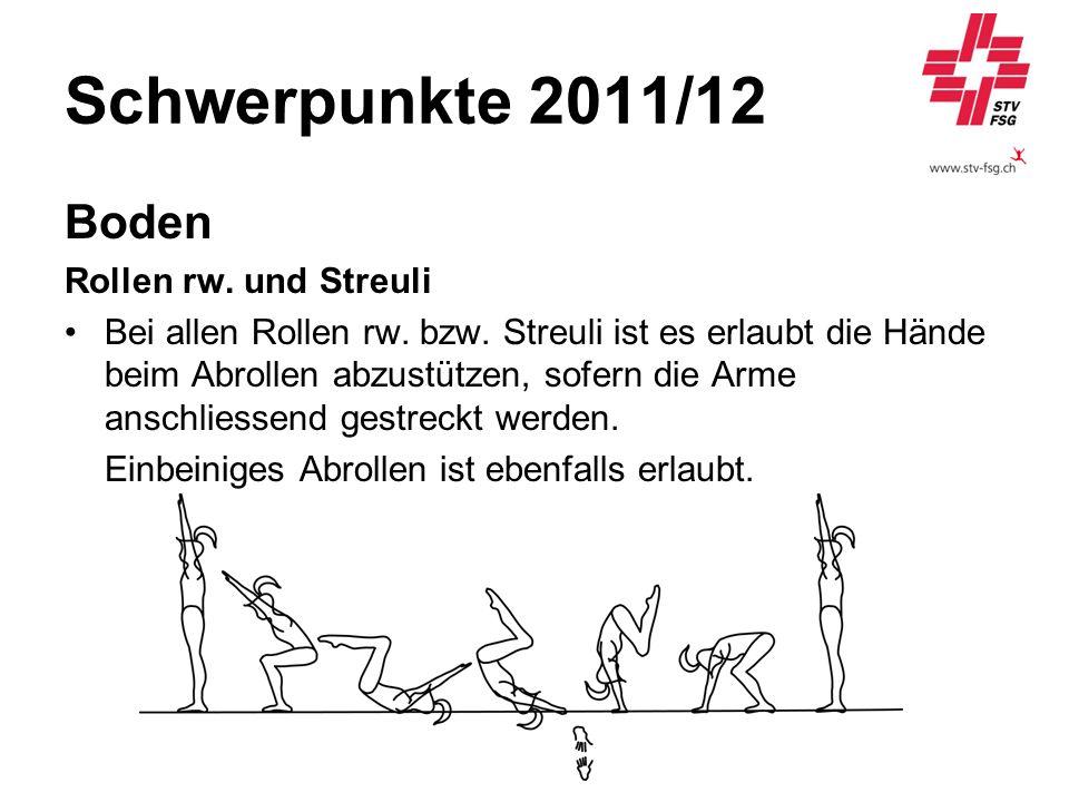 Schwerpunkte 2011/12 Boden Rollen rw. und Streuli