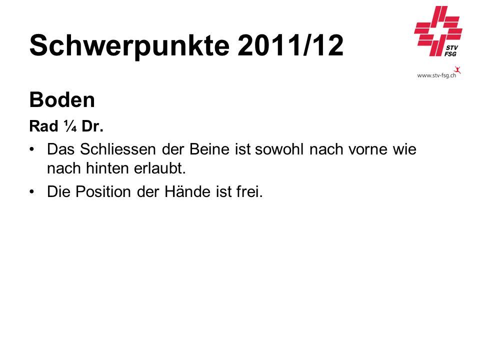 Schwerpunkte 2011/12 Boden Rad ¼ Dr.
