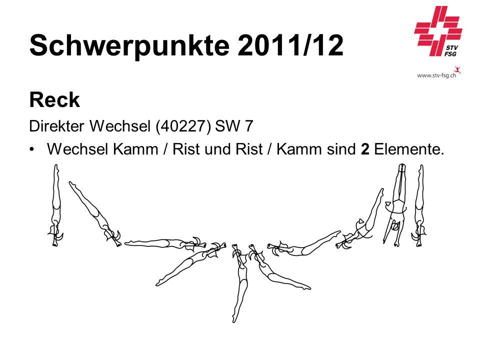 Schwerpunkte 2011/12 Reck Direkter Wechsel (40227) SW 7