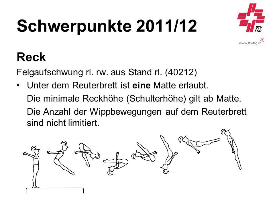 Schwerpunkte 2011/12 Reck Felgaufschwung rl. rw. aus Stand rl. (40212)