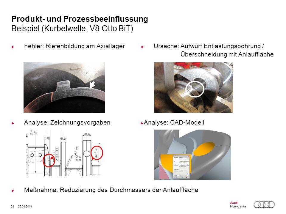 Produkt- und Prozessbeeinflussung Beispiel (Kurbelwelle, V8 Otto BiT)