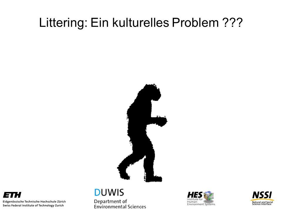 Littering: Ein kulturelles Problem