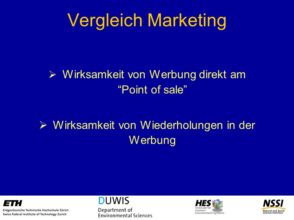 Vergleich Marketing Wirksamkeit von Wiederholungen in der Werbung