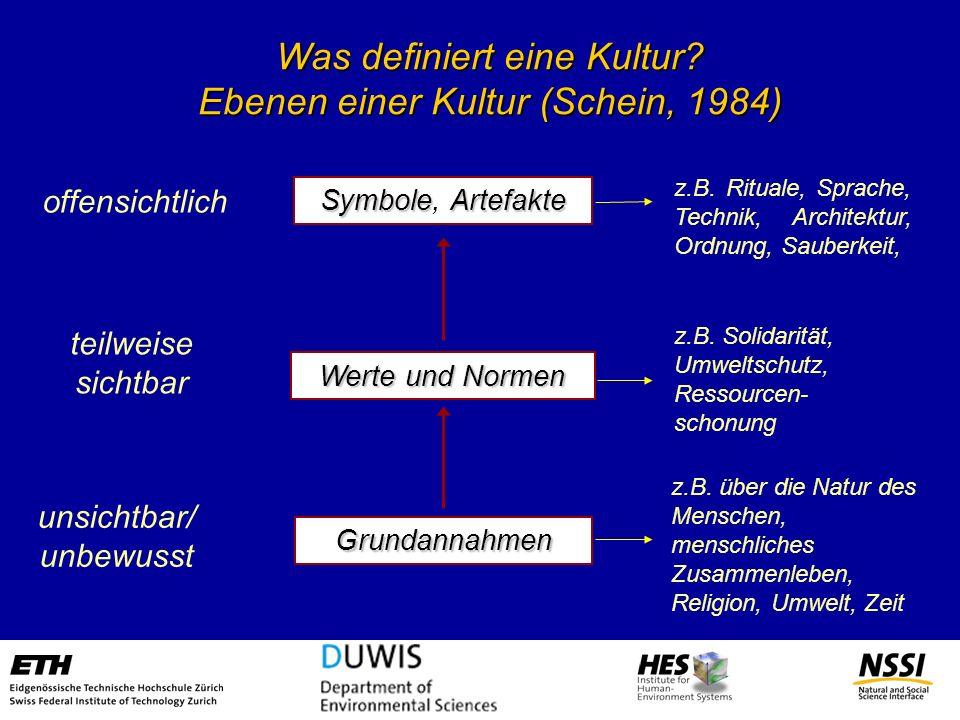 Was definiert eine Kultur Ebenen einer Kultur (Schein, 1984)