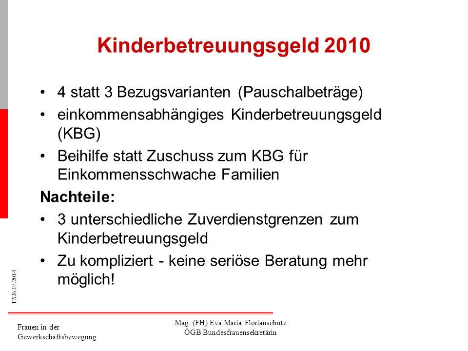 Kinderbetreuungsgeld 2010