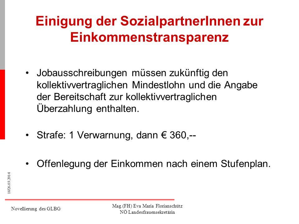 Einigung der SozialpartnerInnen zur Einkommenstransparenz