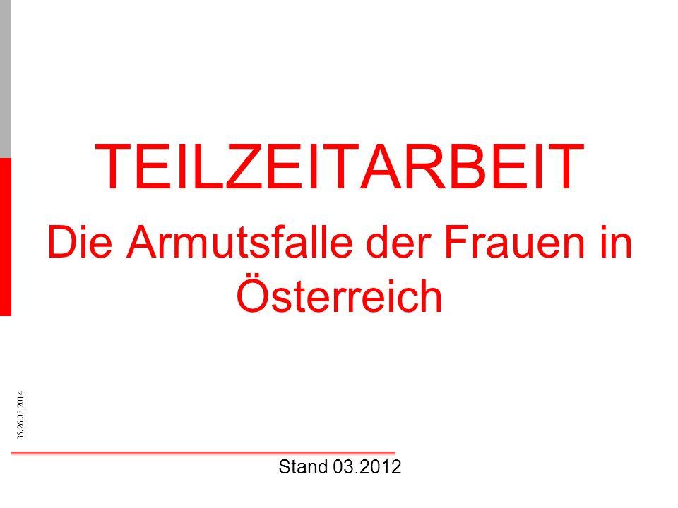 Die Armutsfalle der Frauen in Österreich