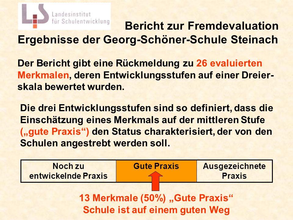 Bericht zur Fremdevaluation Ergebnisse der Georg-Schöner-Schule Steinach