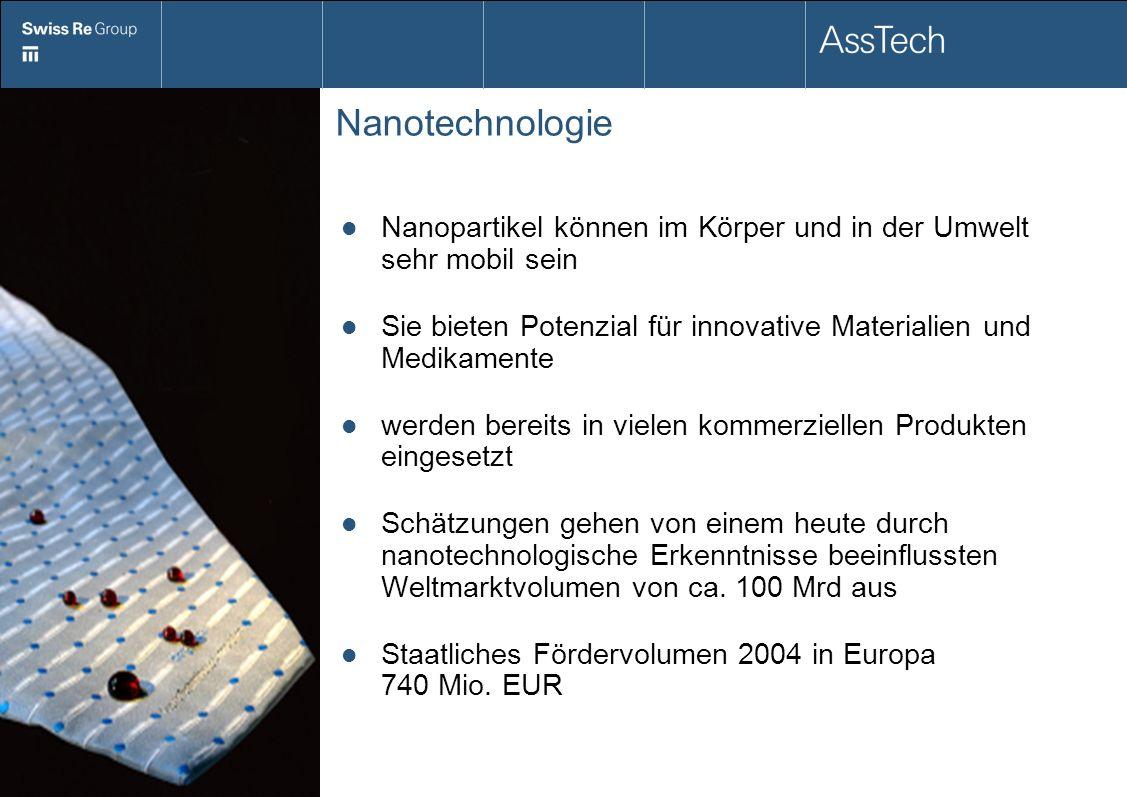 Nanotechnologie Nanopartikel können im Körper und in der Umwelt sehr mobil sein. Sie bieten Potenzial für innovative Materialien und Medikamente.