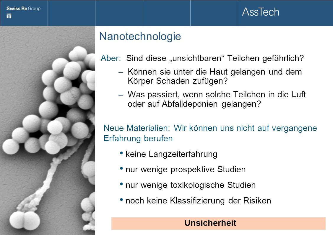 """Nanotechnologie Aber: Sind diese """"unsichtbaren Teilchen gefährlich"""