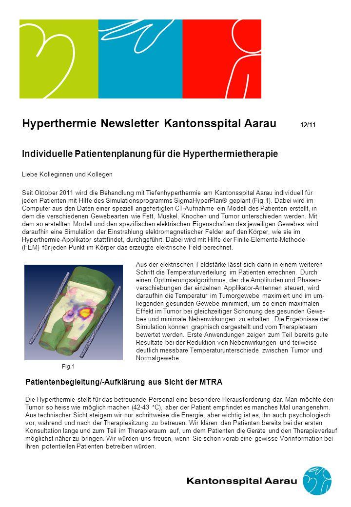 Hyperthermie Newsletter Kantonsspital Aarau 12/11