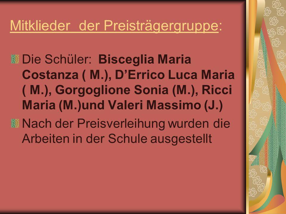 Mitklieder der Preisträgergruppe: