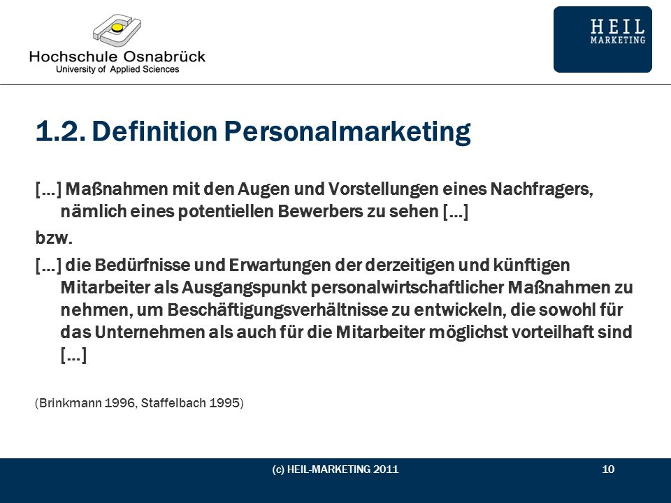 1.2. Definition Personalmarketing