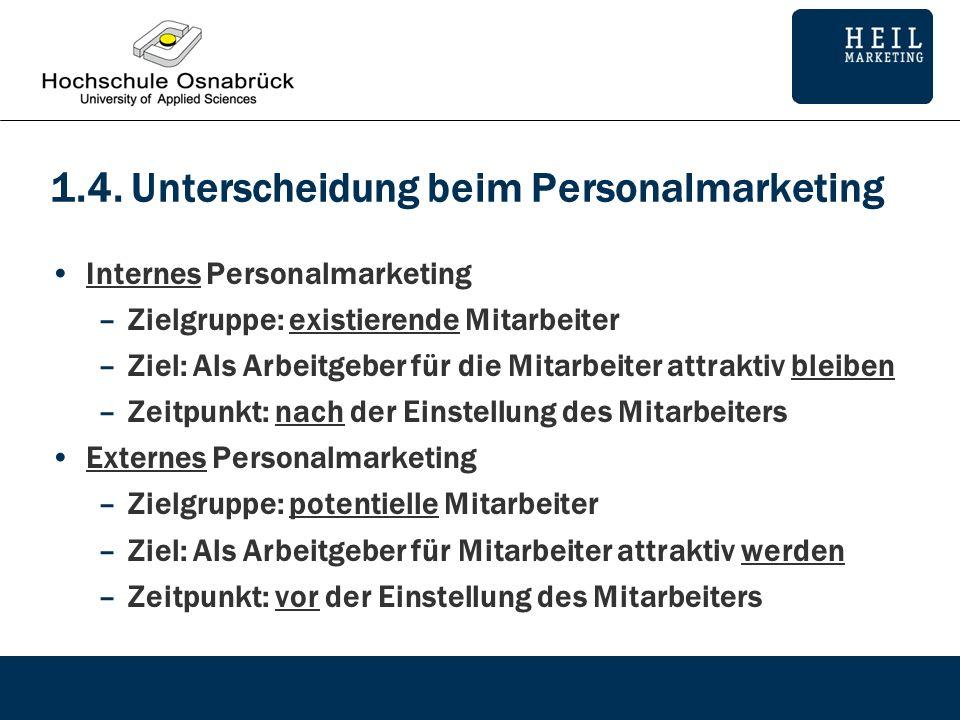 1.4. Unterscheidung beim Personalmarketing