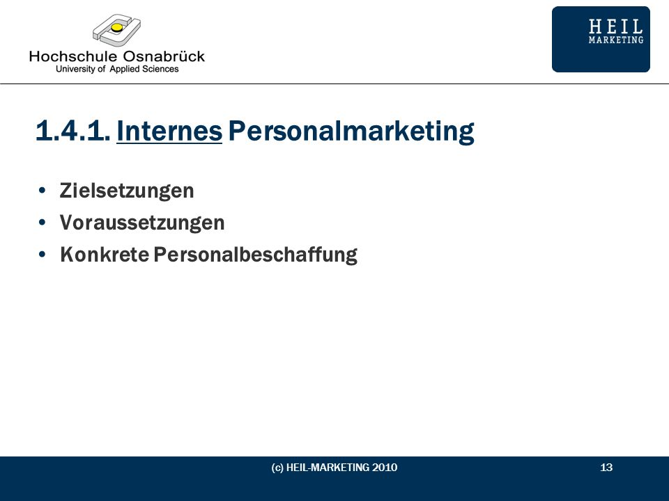 1.4.1. Internes Personalmarketing