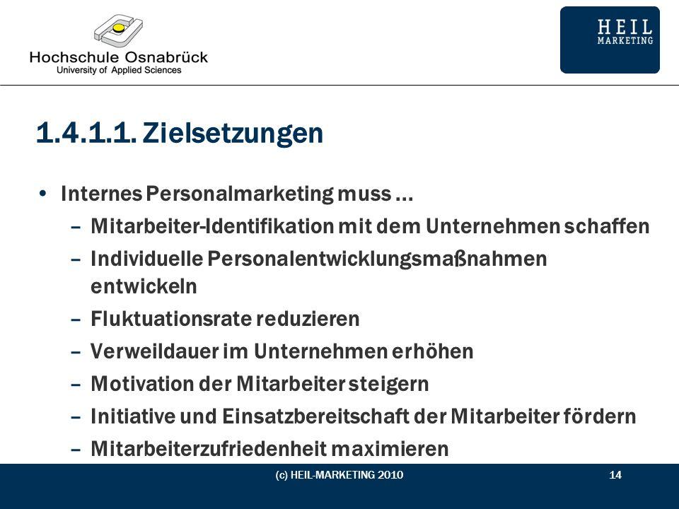 1.4.1.1. Zielsetzungen Internes Personalmarketing muss ...