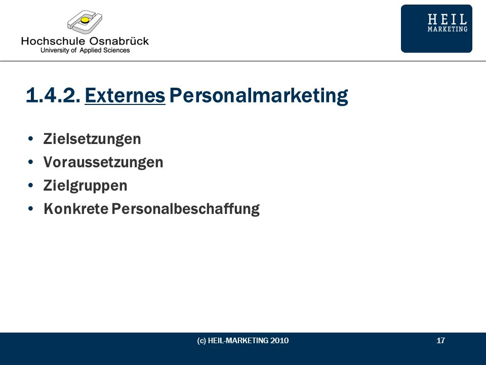 1.4.2. Externes Personalmarketing