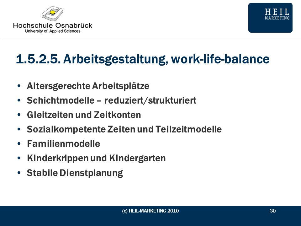 1.5.2.5. Arbeitsgestaltung, work-life-balance