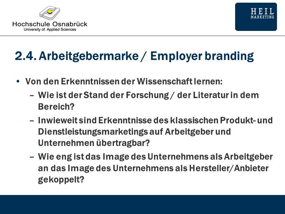 2.4. Arbeitgebermarke / Employer branding