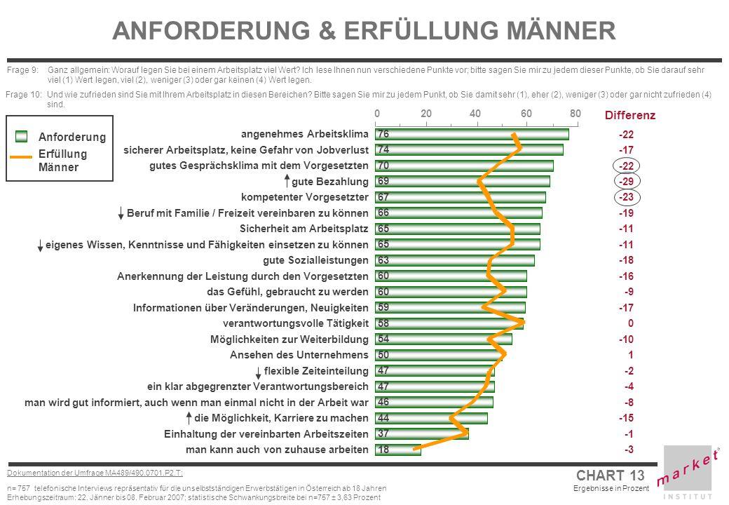 ANFORDERUNG & ERFÜLLUNG MÄNNER