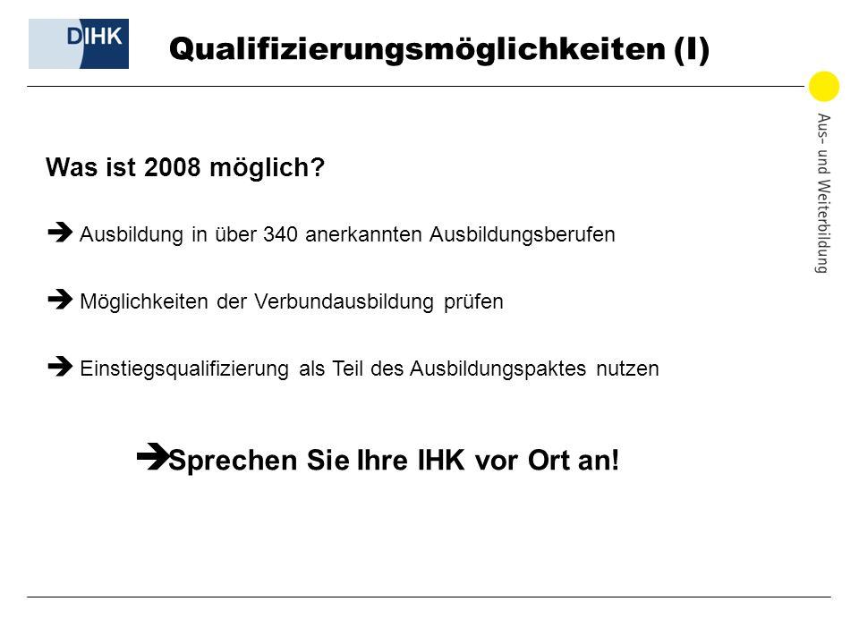 Qualifizierungsmöglichkeiten (I)