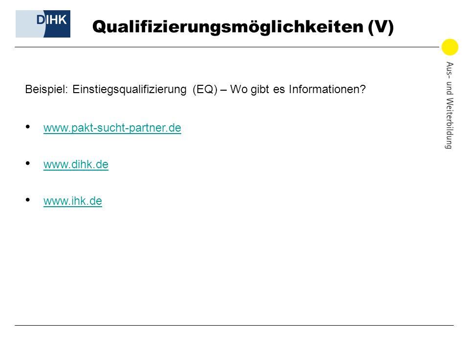 Qualifizierungsmöglichkeiten (V)