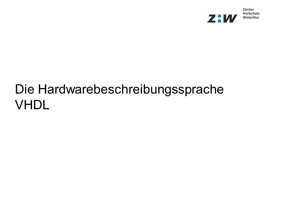 Die Hardwarebeschreibungssprache VHDL