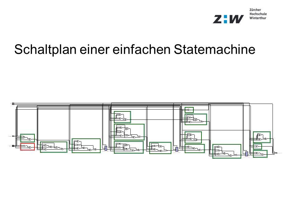 Schaltplan einer einfachen Statemachine