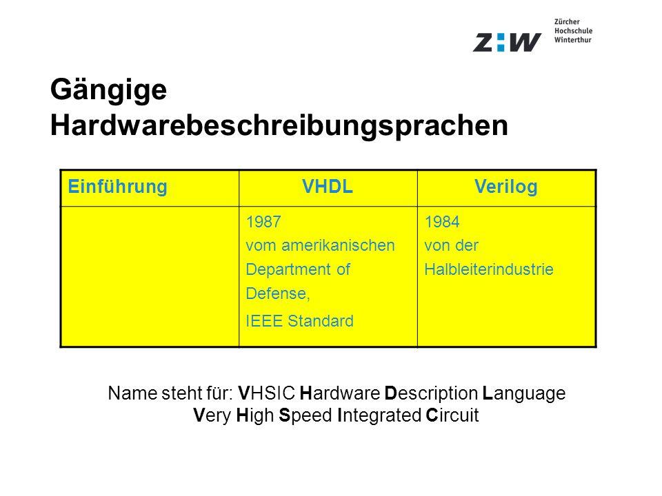 Gängige Hardwarebeschreibungsprachen