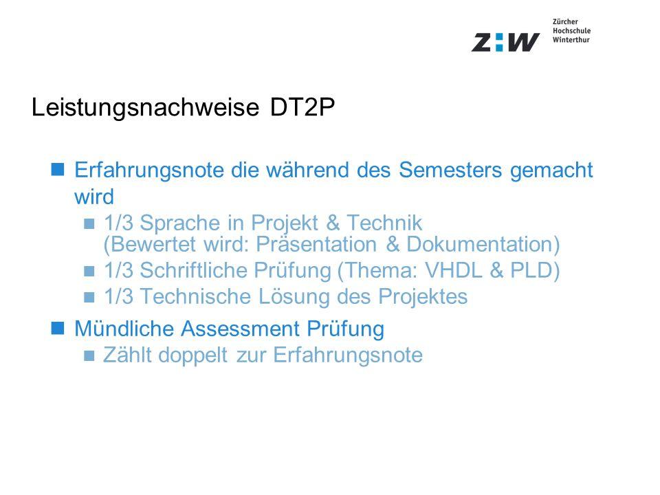 Leistungsnachweise DT2P