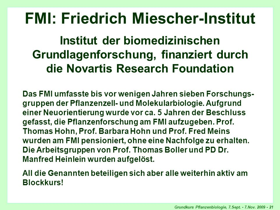 FMI: Friedrich Miescher-Institut